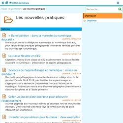 Les nouvelles pratiques - DANE de Poitiers