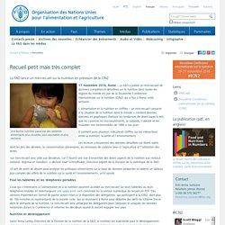 FAO -Nouvelles:Recueil petit mais très complet