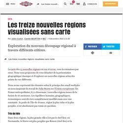 Les treize nouvelles régions visualisées sans carte