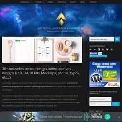 30+ nouvelles ressources gratuites pour vos designs (PSD, .AI, UI Kits, MockUps, photos, typos, etc…)