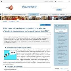 Fake news, infox et fausses nouvelles : une sélection d'articles et de documents sur le portail presse de la BNF