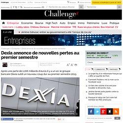 Dexia annonce de nouvelles pertes au premier semestre