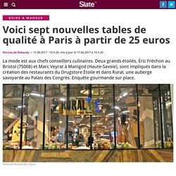 Voici sept nouvelles tables de qualité à Paris à partir de 25 euros