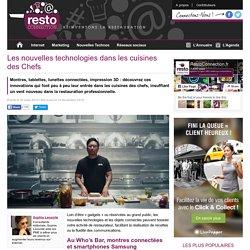 Les nouvelles technologies dans les cuisines des Chefs