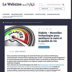 Diabète – Nouvelles technologies pour améliorer le suivi et la qualité de vie