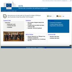 Le Groupe Européen d'Ethique des Sciences et des Nouvelles Technologies