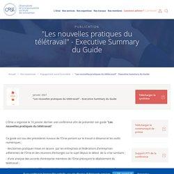 """""""Les nouvelles pratiques du télétravail"""" - Executive Summary du Guide - Orse.org"""