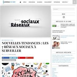 NOUVELLES TENDANCES : LES 7 RÉSEAUX SOCIAUX À SURVEILLER -Journal du web