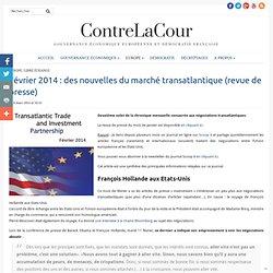 Février 2014: des nouvelles du marché transatlantique (revue de presse)