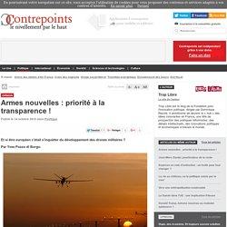 Armes nouvelles : priorité à la transparence !
