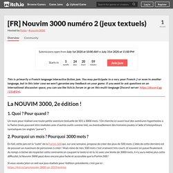 [FR] Nouvim 3000 numéro 2 (jeux textuels)