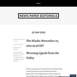 news paper editorials