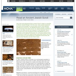 NOVA | Read an Ancient Jewish Scroll