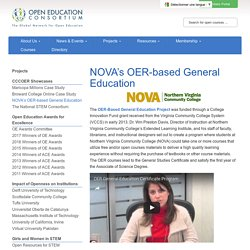 NOVA's OER-based General Education