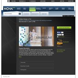 Intelligent Design on Trial | Watch the Program