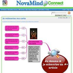 Mind Map Branch: Je résume & je mémorise un article>Je mémorise ma carte