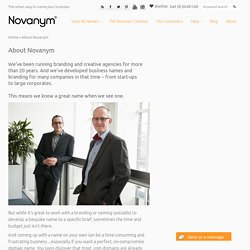 Novanym – perfect domain names, brilliant brands