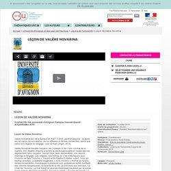 Leçon de Valère Novarina - Université d'Avignon et des pays de Vaucluse