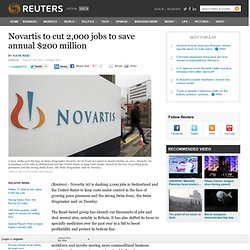 Novartis to cut 2,000 jobs to save annual $200 million