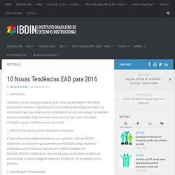 10 Novas Tendências EAD para 2016