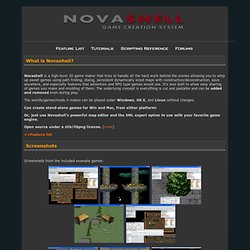 Novashell Game Creation System