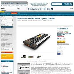 Novation Launchkey 49 USB Midi keyboard Controller