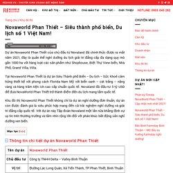 NovaWorld Phan Thiết - Siêu thành phố biển, Du lịch số 1 Việt Nam