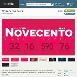 Novecento Sans Desktop, App and Web Fonts by Synthview Type Design