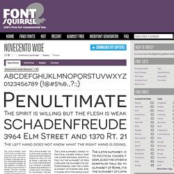 Free Font Novecento wide by Synthview Type Design