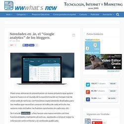 """Novedades en .io, el """"Google analytics"""" de los bloggers"""