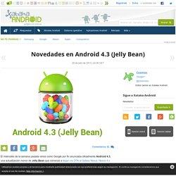 Novedades en Android 4.3 (Jelly Bean)