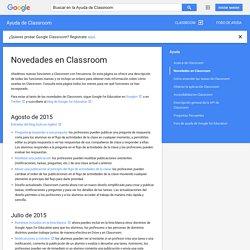 Novedades en Classroom - Ayuda de Classroom