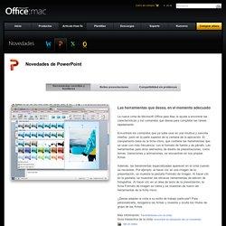 Novedades de PowerPoint para Mac 2011