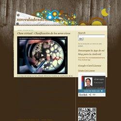 novedadesdelasemana: Clase virtual : Clasificaciòn de los seres vivos