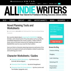 Novel Planning Tools and Worksheets