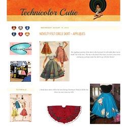 Novelty Felt Circle Skirt ~ Appliques