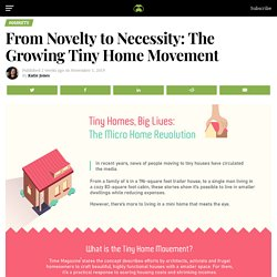From Novelty to Necessity: The Growing Tiny Home Movement
