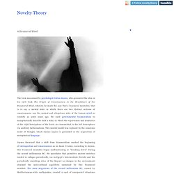 Novelty Theory ° A Bicameral Mind