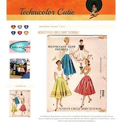 Novelty Felt Circle Skirt Tutorial!