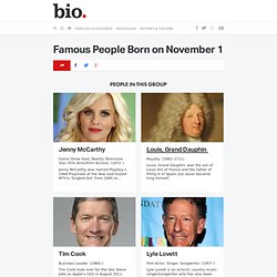 Famous People Born on November 1