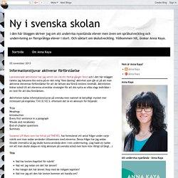 Ny i svenska skolan: november 2013