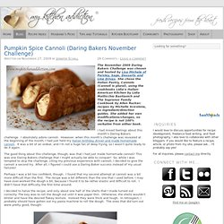 Pumpkin Spice Cannoli (Daring Bakers November Challenge)