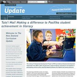 Issue 27: November 2012 / NZC Updates / Curriculum resources