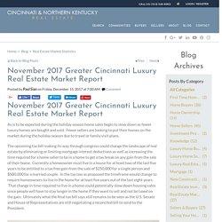 November 2017 Cincinnati, Ohio Luxury Real Estate Market Report