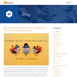 November Holiday Season Marketing Tips from Bigfin.com