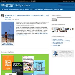 Mobile Learning Books and Courses for iOS Devices