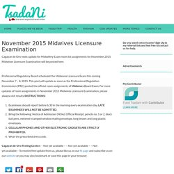 November 2015 Midwives Licensure Examination