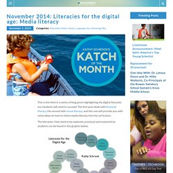 November 2014: Literacies for the digital age: Media literacy