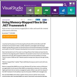 VSM November: Joe Kunk on Memory Mapped Files in VB