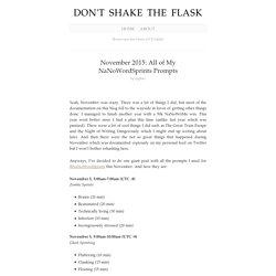 November 2015: All of My NaNoWordSprints Prompts
